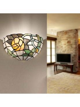 Applique Lampada da parete in vetro Tiffany Perenz