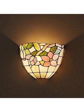 Applique da parete dal design originale, in vetro lavorato in stile Tiffany