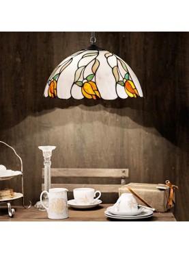 Lampada a sospensione Perenz in vetro in stile Tiffany  D. 40 cm