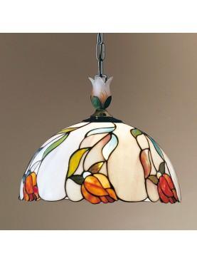 Lampada a sospensione Perenz in vetro in stile Tiffany