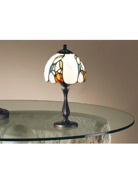 Lampada da tavolo in stile Tiffany D. 14 cm in vetro e resina