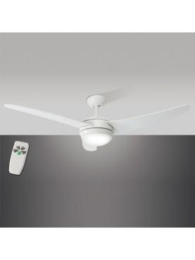 Ventilatore bianco Perenz a tre pale dal design moderno