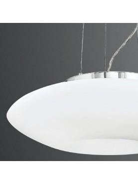 5750 Lampada Sospensione in Vetro Soffiato Bianco D.50 cm Perenz