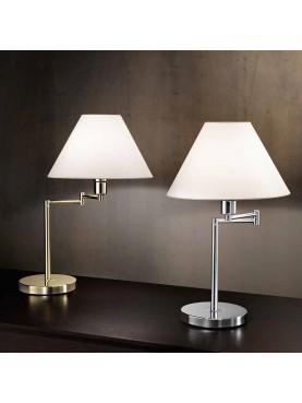 4017 Lampada da Tavolo Snodabile Oro-Cromo Perenz