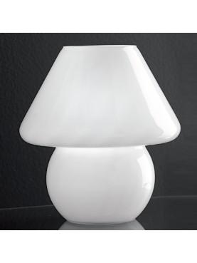 3041B Lampada da Tavolo Vetro Soffiato Bianco Perenz