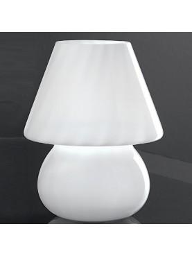 3042B Mini Lampada da Tavolo Vetro Soffiato Bianco Perenz